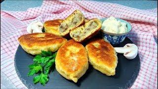 Вкусные, нежные жареные пирожки с картошкой и грибами