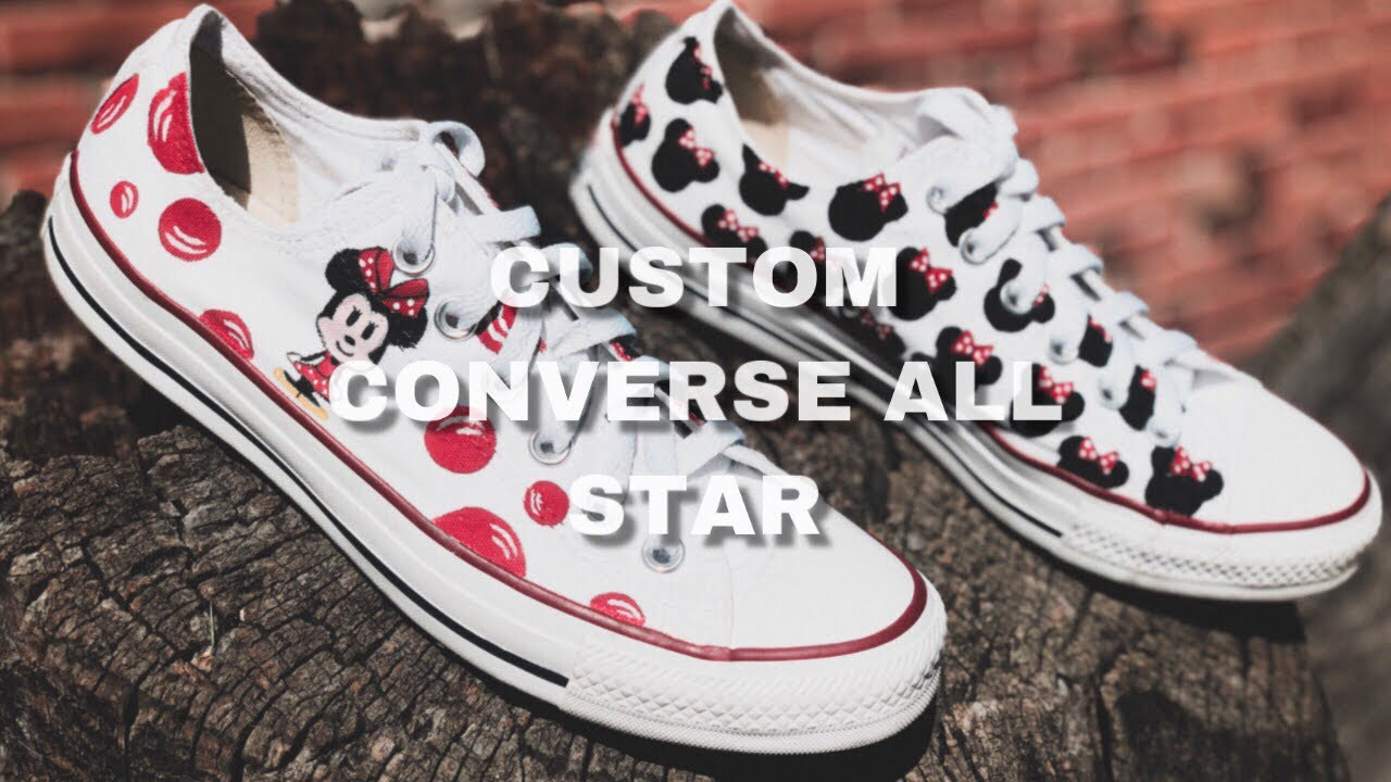 CUSTOM CONVERSE ALL STAR [CUSTOM MINNIE MOUSE]