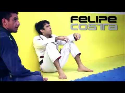 Felipe Costa training BJJ for competition at his Academy Brazilian Black Belt in Rio de Janeiro