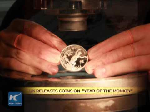 """Royal Mint releases commemorative coins on """"Year of the Monkey"""""""