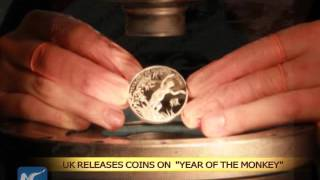 "Royal Mint releases commemorative coins on ""Year of the Monkey"""