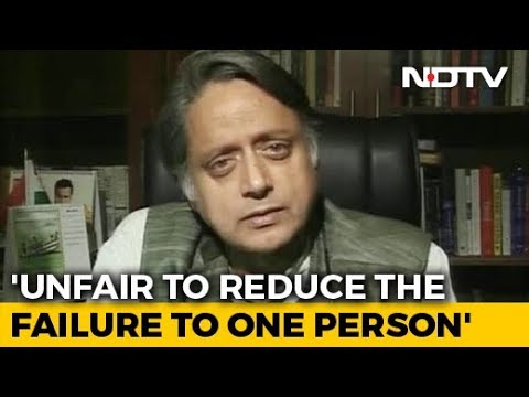 Rahul Gandhi Taking Congress Defeat On The Chin, Says Shashi Tharoor