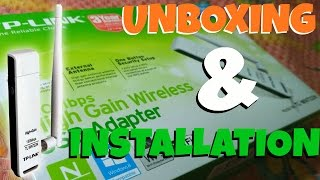 TP-Link USB Adapter TL-WN722N : Unboxing & Installation | Cheap And Best Wifi Adapter