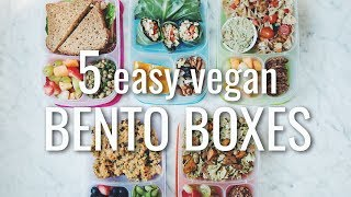 5 EASY VEGAN BACK TO SCHOOL BENTO BOXES (LUNCH IDEAS) | hot for food