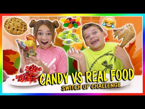 CANDY VS REAL FOOD  THANKSGIVING EDITION  We Are The Davises