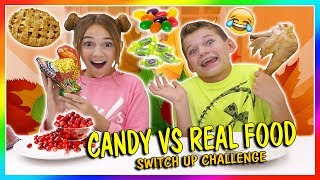 CANDY VS REAL FOOD | THANKSGIVING EDITION | We Are The Davises