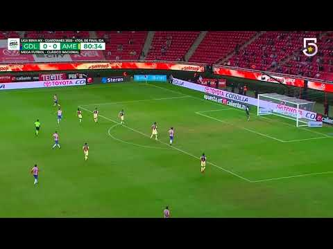 Gol de C. Calderón | Chivas 1 - 0 América | Liga MX - Guardianes 2020 Apertura  | LIGA BBVA MX