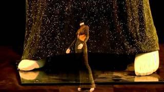 Whitney Houston Glistening Black Dress