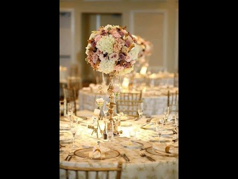 Decoracion boda de dorado youtube for Decoracion bodas