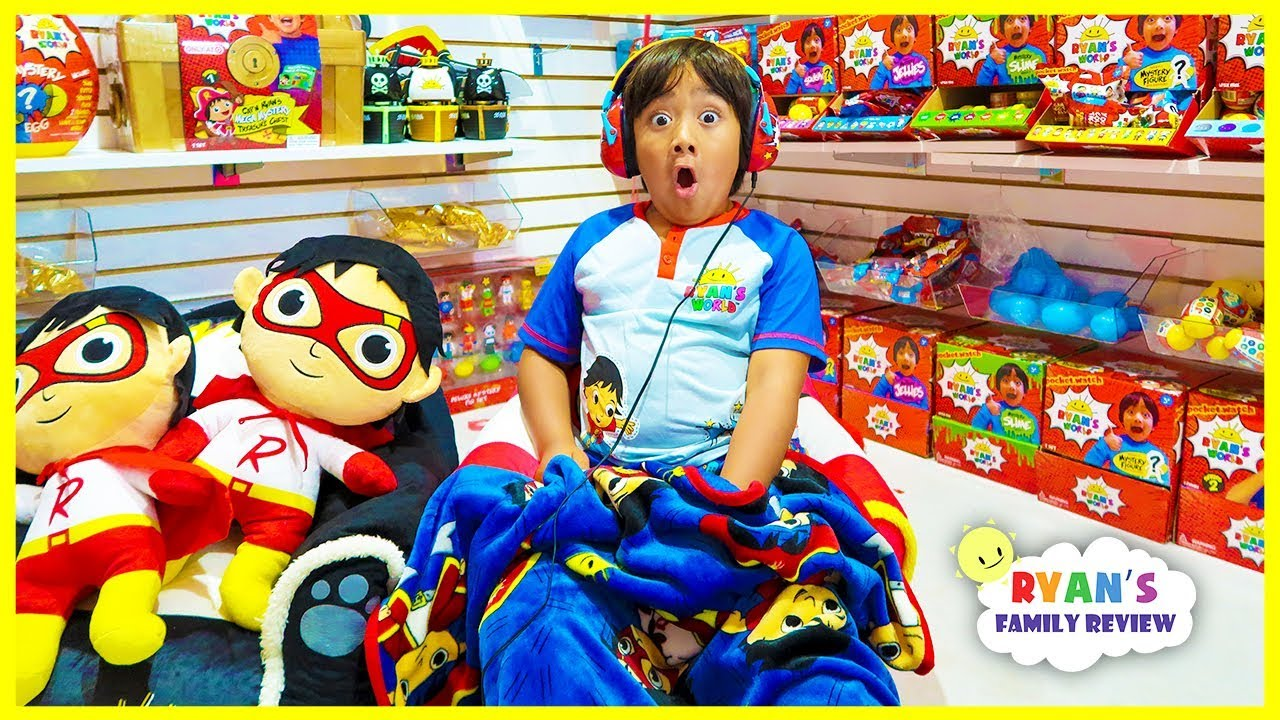 Ryan Spend 24 hours overnight in Ryan's World Toys Room Challenge!!