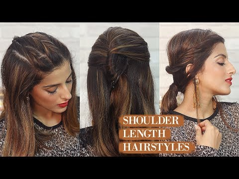 3-super-quick-&-easy-shoulder-length-hairstyles-for-school,-college,-work-|-knot-me-pretty