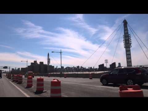 Driving over the Triborough Bridge / RFK Bridge to Astoria