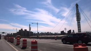 Driving over the Triborough Bridge / RFK Bridge to Astoria