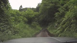 20130720【車載カメラ】福島県道335号大平喜多方線(黒岩林道入口まで往復)