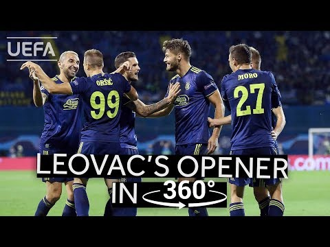LEOVAC's opening goal against ATALANTA in 360°!! #UCL HIGHLIGHTS
