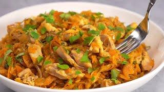 Тушеная капуста с овощами и мясом. Рецепт тушеной капусты с мясом от Тани