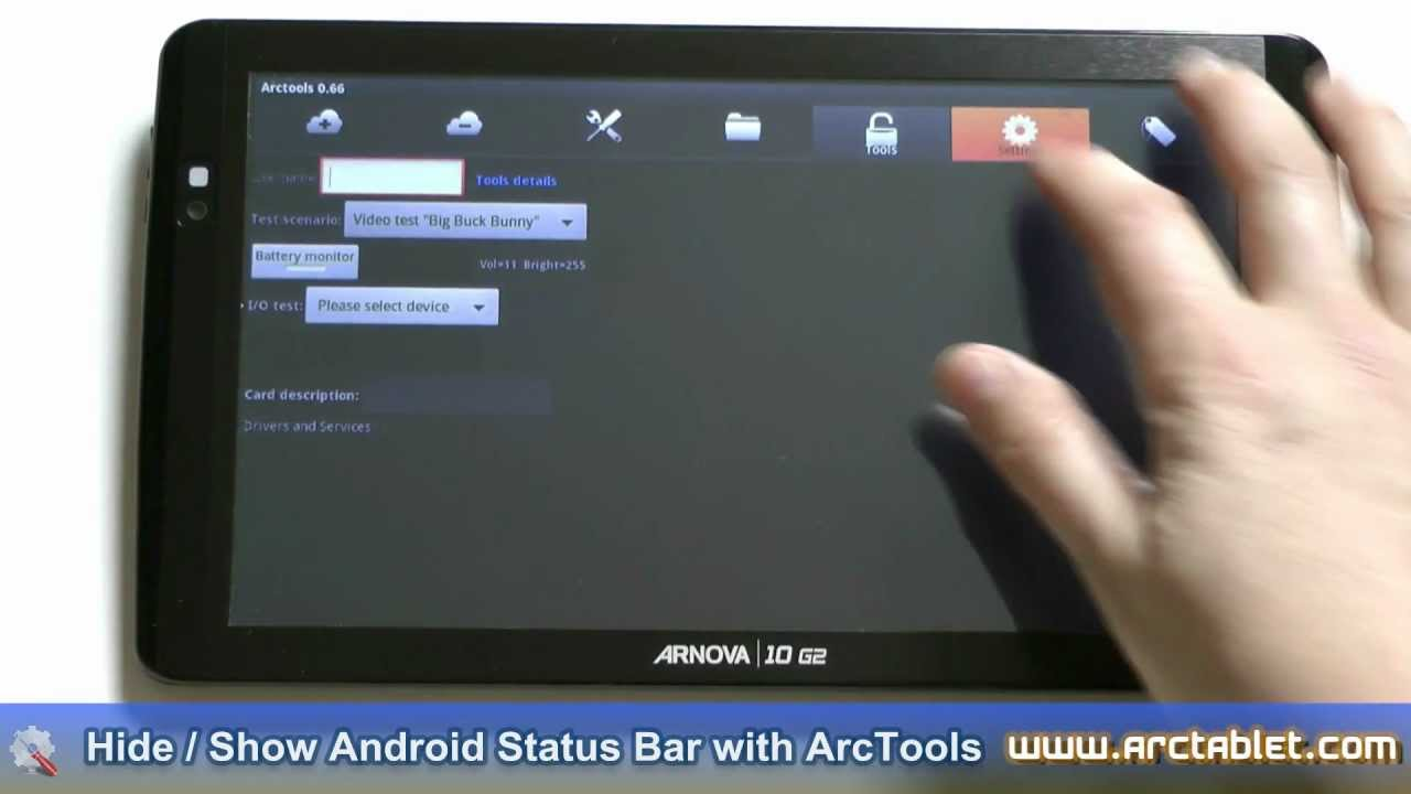 Hide/Show Android Status Bar (rooted device required)