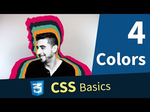 CSS Tutorial — Colors, Hex, RGB, RGBA, Predefined Colors (4/13)