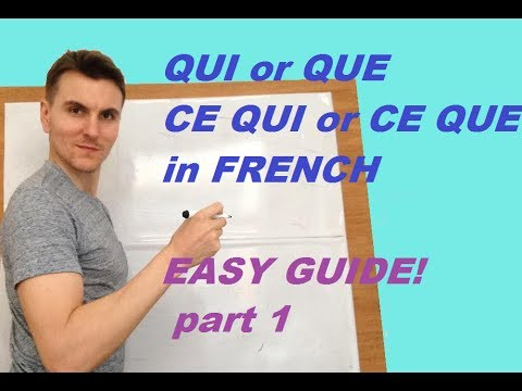 qui or que ce qui or ce que in french part 1 youtube. Black Bedroom Furniture Sets. Home Design Ideas