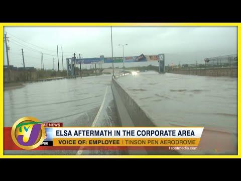 Tropical Storm Elsa Aftermath in Kingston Jamaica | TVJ News - July 5 2021
