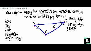 Pengertian Geometri Bidang Datar?