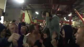 "Man united fans: ""What a feeling what a night"" (Solskjaer chant) Southampton away 11/5/14"