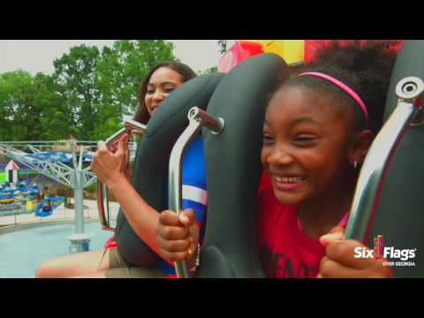 NEW: DC SUPER FRIENDS Broll at Six Flags Over Georgia