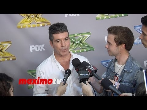 """Simon Cowell Interview at ""The X Factor"" USA Season 3 Finale Night 2 - Alex and Sierra"""