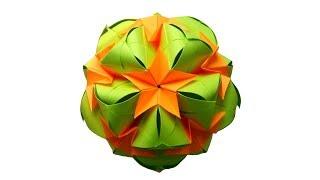Kusudama Кусудама Sweet Spring Новогоднее украшение из бумаги оригами