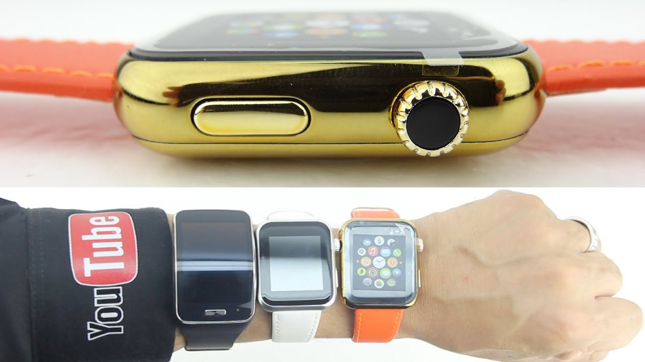 """18kt Gld 10K Apple Watch """"Edition"""" CLONE Unboxing/Size ..."""