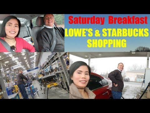 American Filipina Life In America   Rainy Saturday   Shopping at LOWES + Starbucks + Family Breakfas