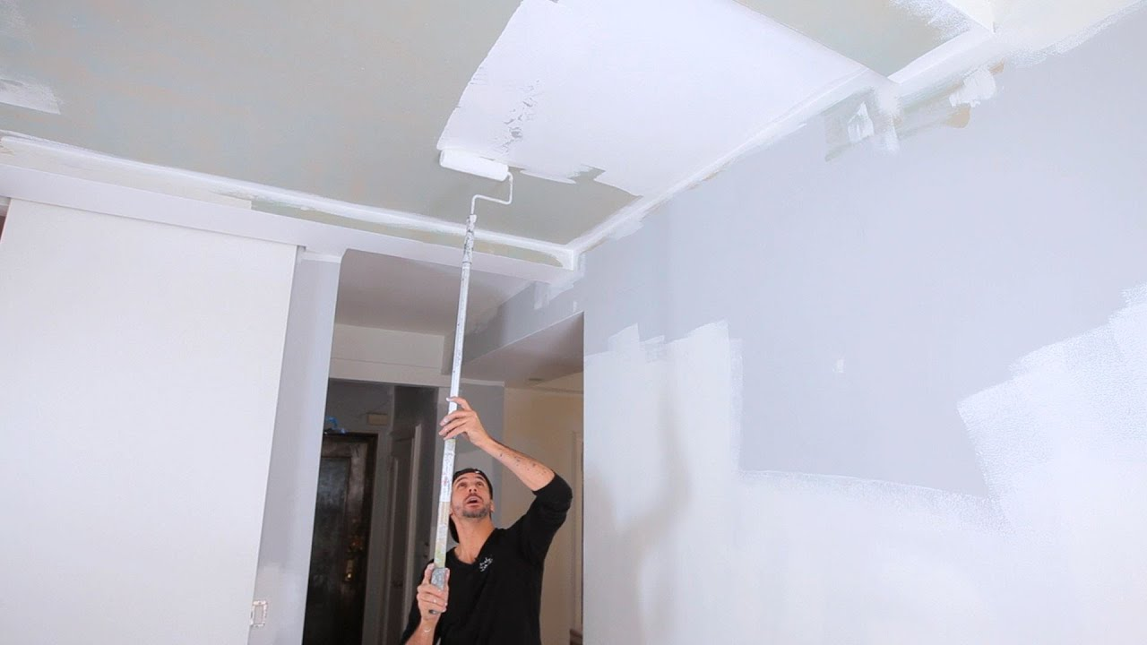 How To Paint A Ceiling House Painting Youtube