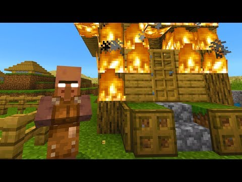 Never let this Minecraft villager stay in your home.. (Creepy)