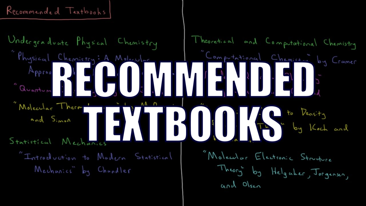 TMP Chem - Recommended Textbooks
