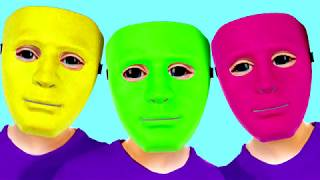 Colored Masks Emily pretend play Five Little Babies Sweet Emily