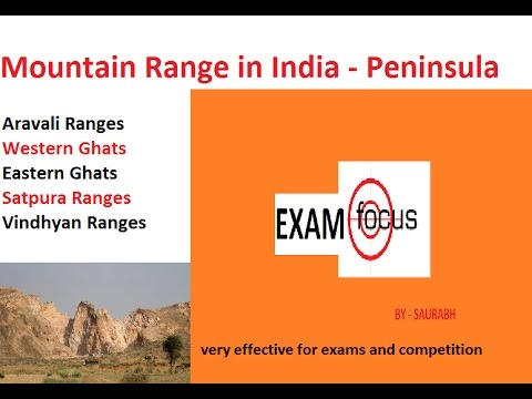 PENINSULAR  MOUNTAIN RANGES Important points for exams