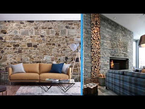 Stylish Stone Wall Design Ideas 2020 Modern Living Room Decorating Ideas With Stone Wall Youtube
