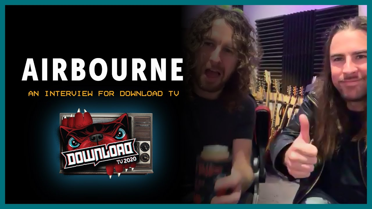 AIRBOURNE interview for Download Festival TV!