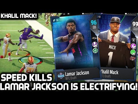LAMAR JACKSON IS ELECTRIFYING! DRAFT KHALIL MACK! Madden 18 Ultimate Team