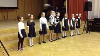 """Школа 830  3-4 классы """"Ангел"""" Концерт для будущих первоклассников:)"""