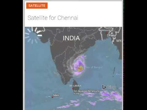 Chennai Weather Report Today Satellite View வரத - Today satellite map