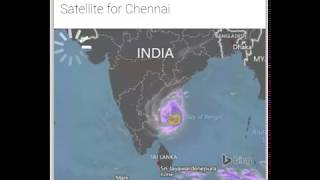 Chennai weather report today satellite view வர்தா12/12/2016