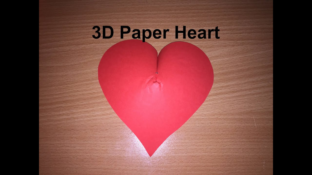 how to draw a 3d heart on paper