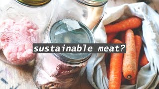 ZERO WASTE & MEAT //  animal products in glass
