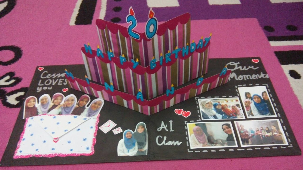 Diy Pop Up Card Ideas Tutorial Membuat Pop Art Card