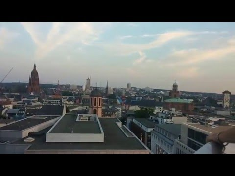 places to see in germany/The view of Frankfurt from the Gallery.What to do in Frankfurt?
