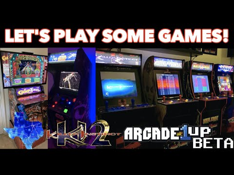 Playing Classic Arcade Games | Texas Snowpocalypse, Arcade1Up Beta Test & KI A1U Price! from Killer Arcade Games