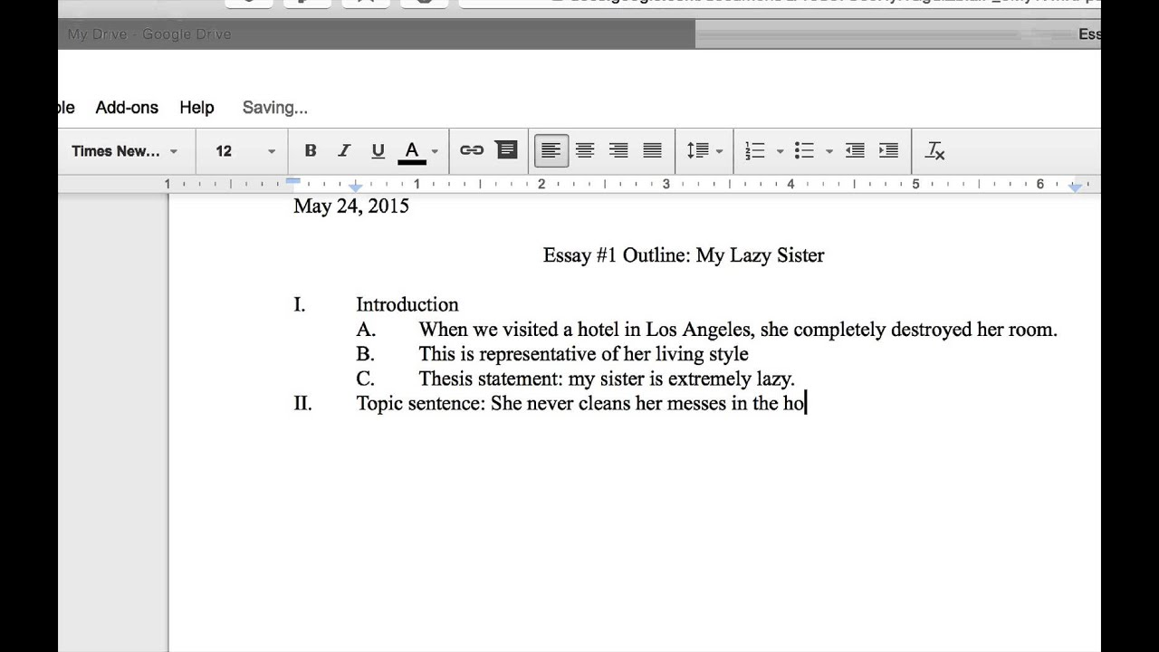 Creating An Outline In Google Docs YouTube