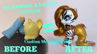 kv ll mlp oc custom transforming a failed custom into a mermaid pony ll by keanuvy varela