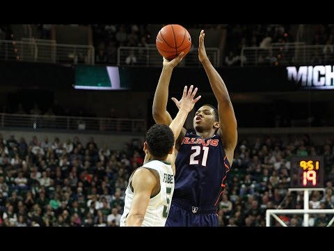 Illinois Basketball Courtside Highlights + Radio Calls at Michigan State 2/7/15